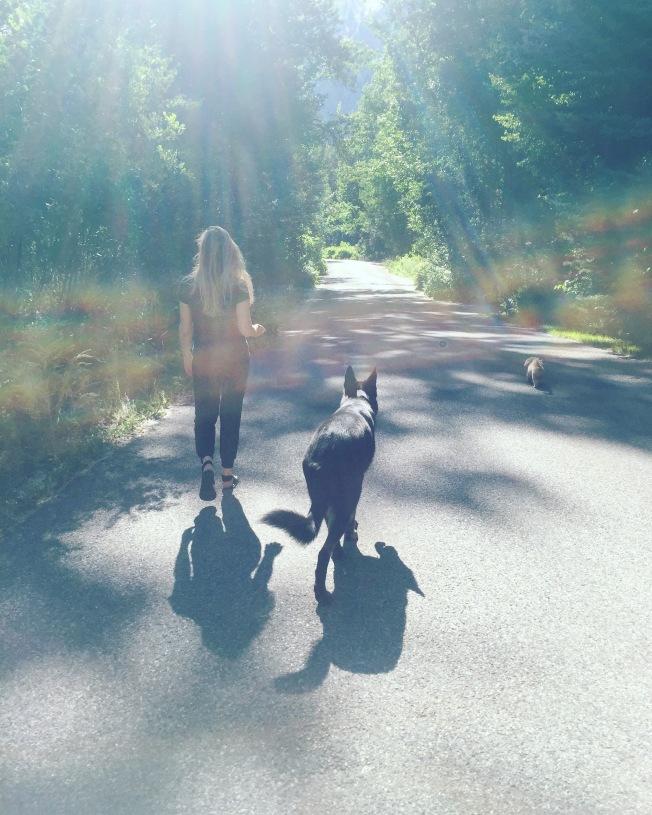 Walking in Sun Valley